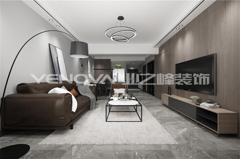 黄河兴龙城92平现代风格设计效果