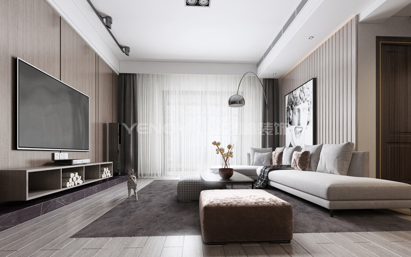 邓县财富世家160平现代风格