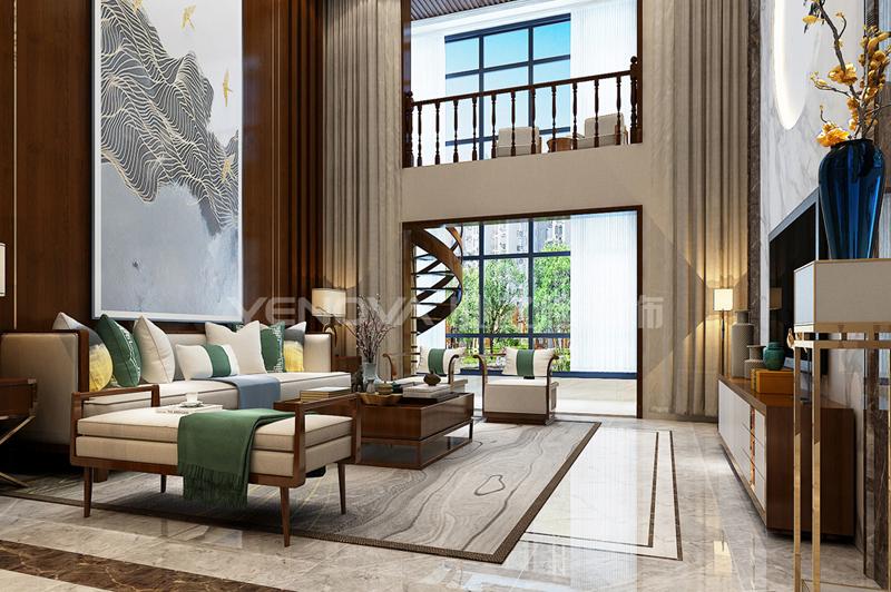中信国安城230平复式新中式风格