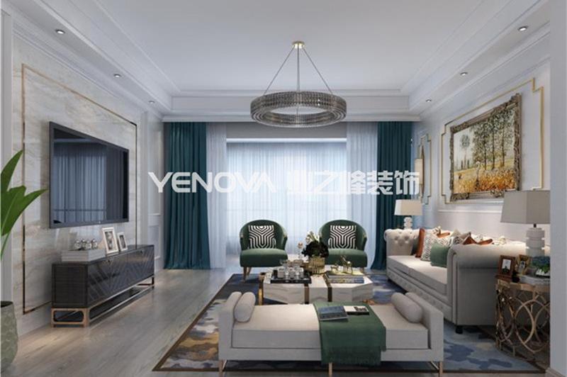 宇信凯旋公馆170平美式轻奢风格