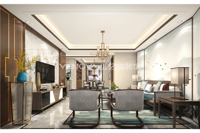 中信国安城158平新中式风格