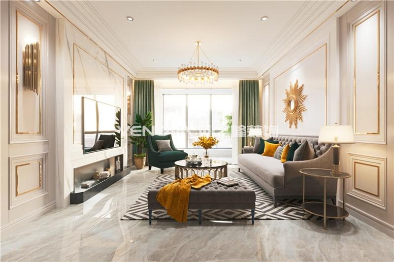 摩根中央公园160平法式轻奢风格