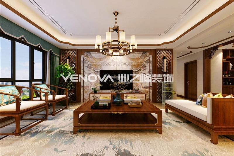 玉龙苑160平新中式风格