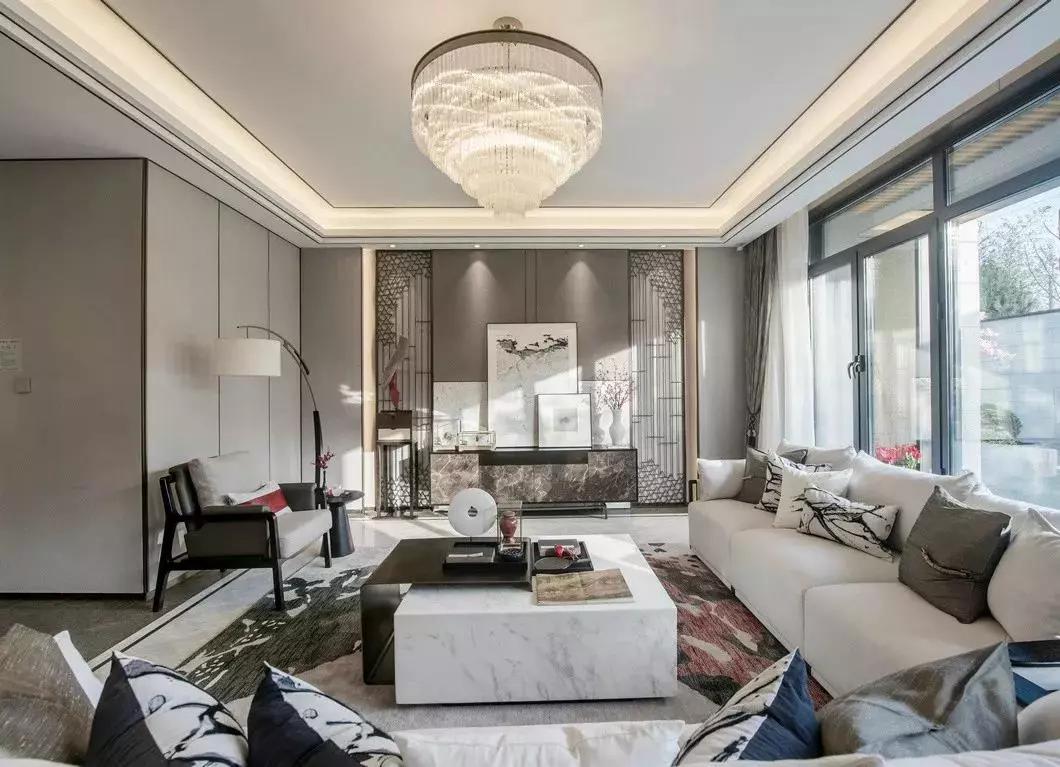 392㎡新中式别墅,大宅风范,儒雅高端