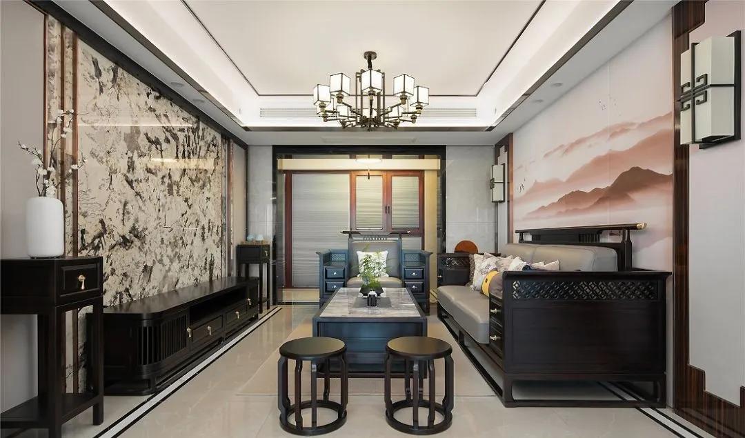 133㎡典雅新中式风格装修,打造不落俗套的经典质感!
