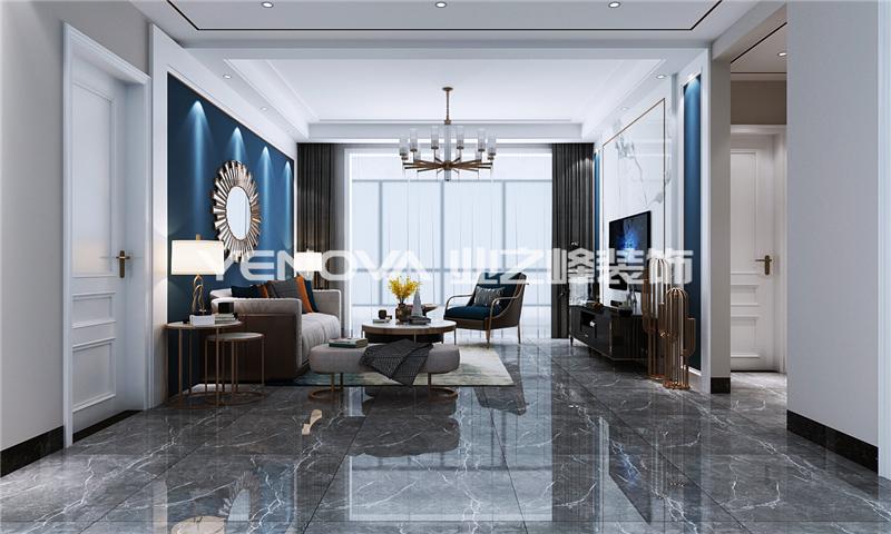 镇平天河人家128平现代简约风格,简洁明快的家!