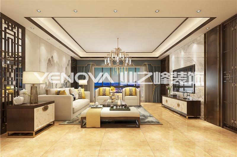 中信国安城190平新中式风格