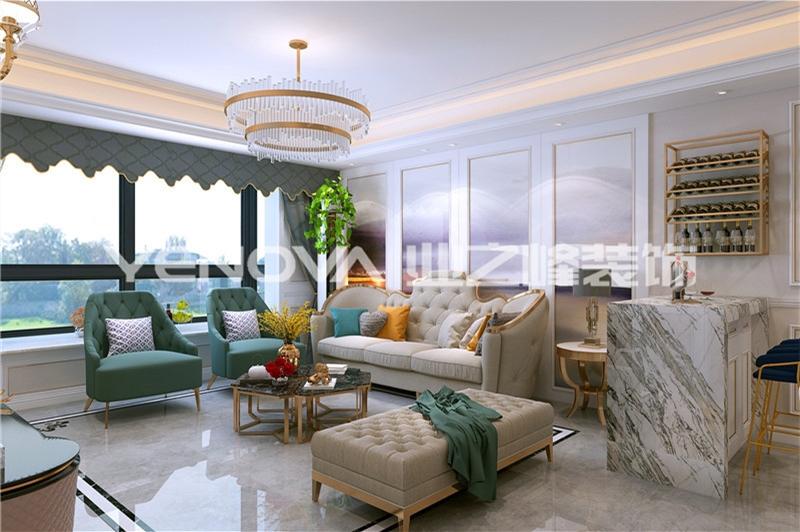 汉景苑140平美式轻奢风格