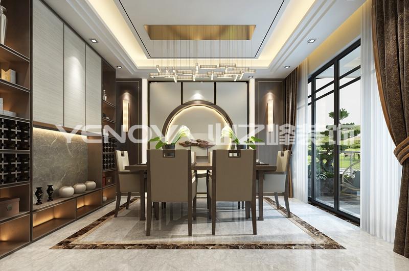 中惠沁林山庄200平新中式风格