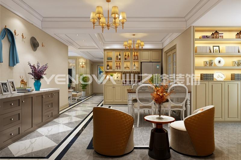 尚城国际135平美式风格
