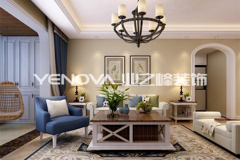 港岛玫瑰园139平美式风格