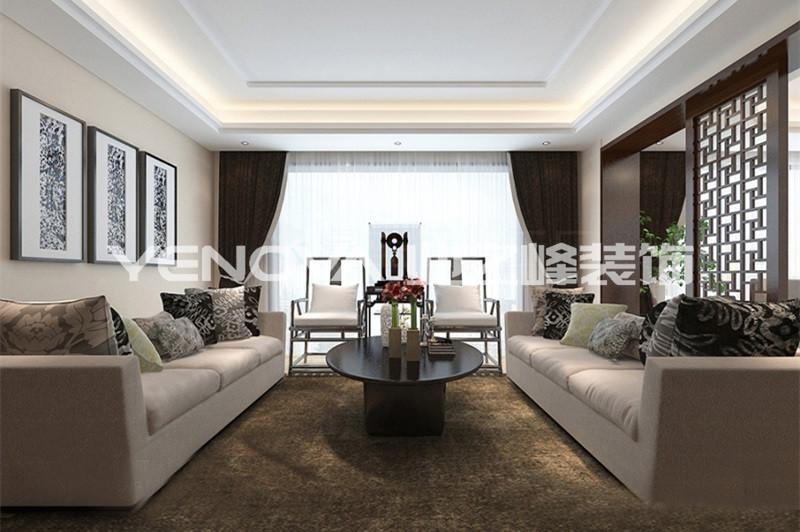 西峡别墅320平新中式风格